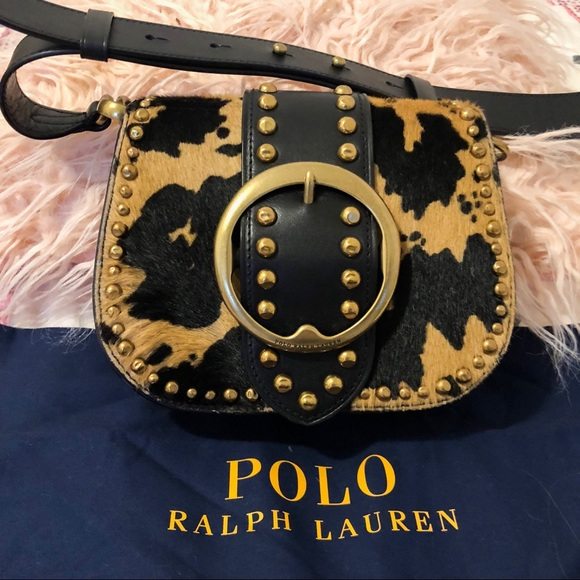 95e170b2 Polo Ralph Lauren Haircalf Lennox Crossbody Bag